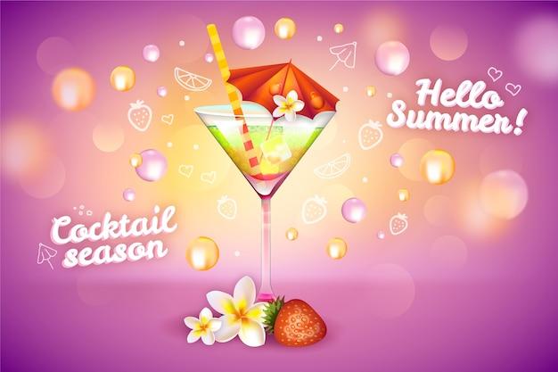 Sommer cocktail drink anzeige