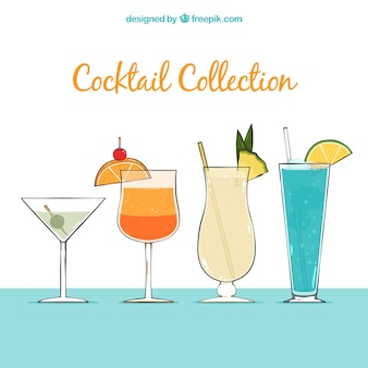 Sommer-cocktail-hintergrund