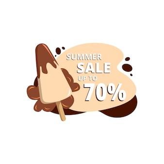 Sommer design illustration konzept