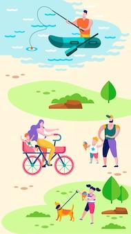 Sommer draußen familienerholung sozial