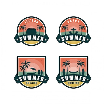 Sommer dreamsbadge design kollektion