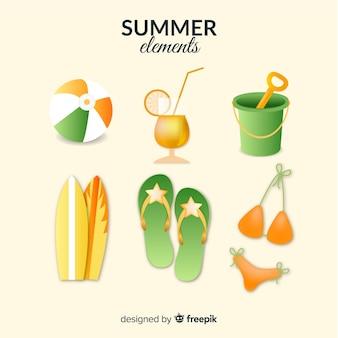 Sommer-element-sammlung