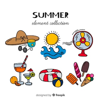 Sommer-element-sammlung