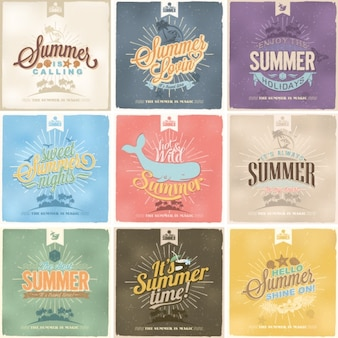 Sommer entwirft kollektion
