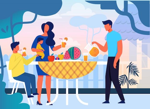 Sommer familien picknick wohnung
