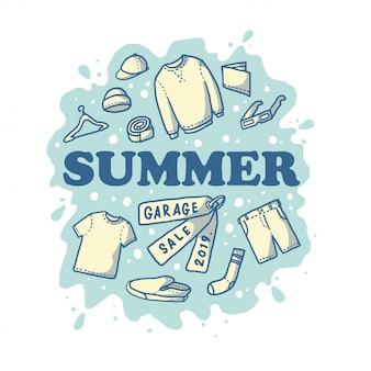 Sommer flohmarkt