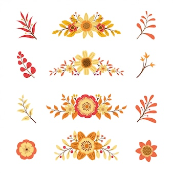 Sommer floral elementsammlung