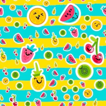 Sommer früchte muster