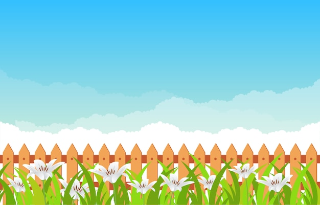 Sommer-frühlings-blühende blumen-natur mit hintergrund des blauen himmels