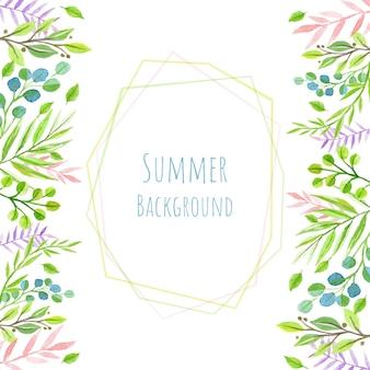 Sommer geometrischen aquarell hintergrund