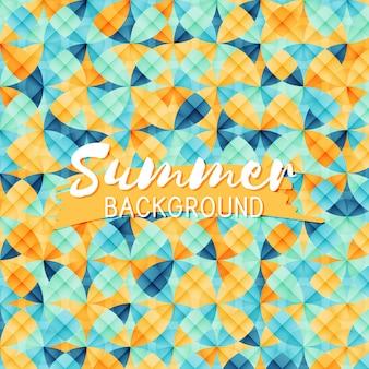 Sommer hintergrund mit geometrischen kreisen