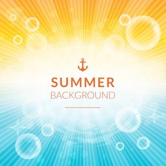 Sommer hintergrund mit sonnenschein