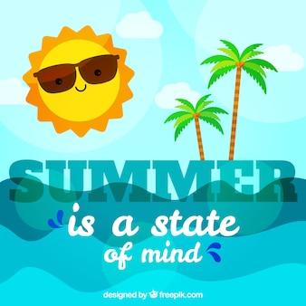 Sommer hintergrund mit strand an einem sonnigen tag