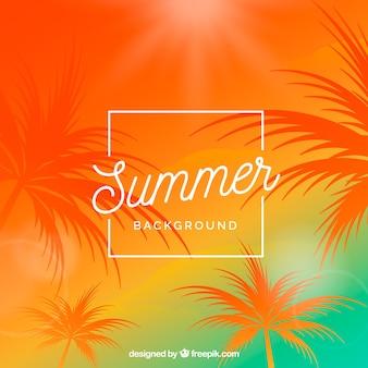 Sommer hintergrund mit warmen farben