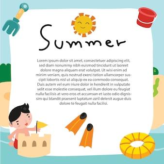 Sommer hintergrund vektor-design