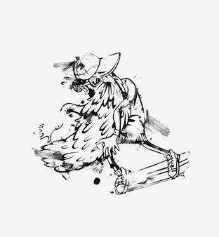 Sommer-hipster-männer wasserski wake skater papier geschnittene tags, etiketten, aufkleber-vektor-illustration abziehen.