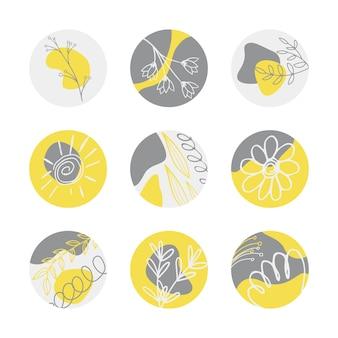 Sommer-icons für highlights-geschichten