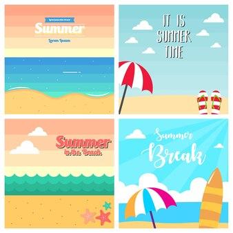 Sommer-illustration. hintergrund