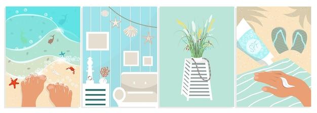 Sommer-illustrationssatz