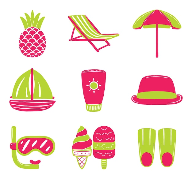 Sommer im flat-design-stil