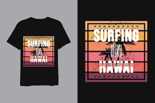 Sommer in hawaii schriftzug für hemd