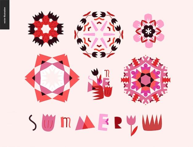 Sommer kaleidoskopische elemente