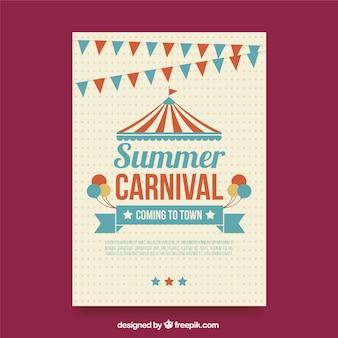 Sommer-karnevals-plakat