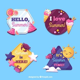 Sommer-Label-Sammlung