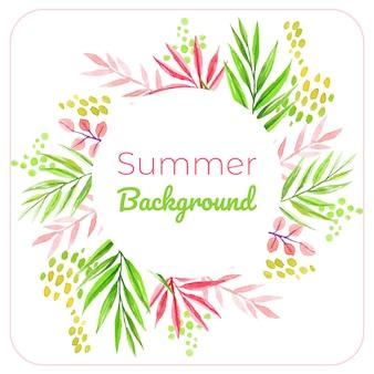 Sommer lässt rahmen Premium Vektoren