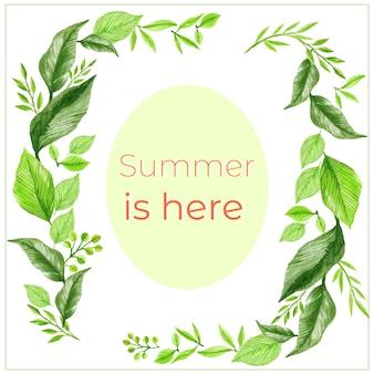 Sommer lässt rahmen