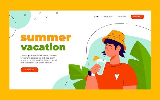 Sommer landing page vorlage