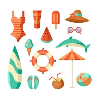 Sommer logo abbildung. sommerzeit, genießen sie ihren urlaub.