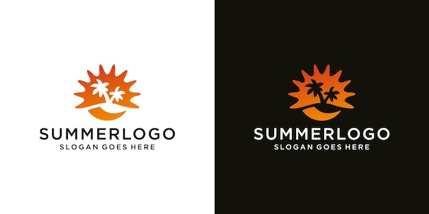 Sommer-logo moderne icon-design-vorlage