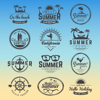 Sommer-logos sammlung