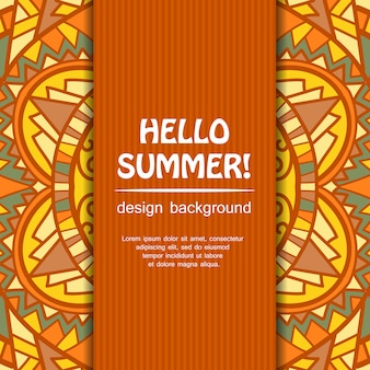 Sommer-mandala-design. ethnischer hintergrund.