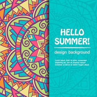 Sommer-mandala-karte