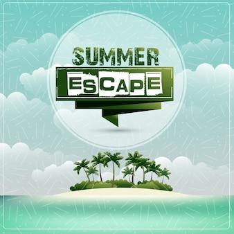 Sommer-meerblick-plakat