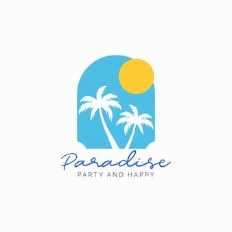 Sommer mit palm-logo-design