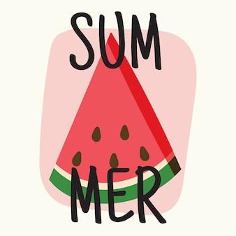 Sommer mit wassermelone