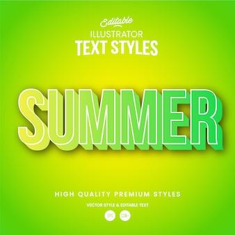 Sommer moderner abstrakter texteffekt bearbeitbarer grafikstil