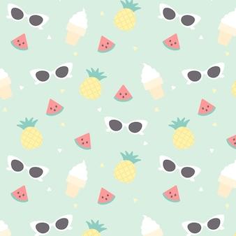 Sommer nahtlose Muster Hintergrund