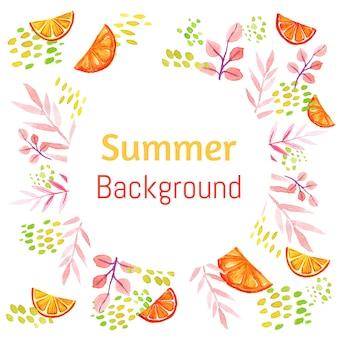 Sommer orange scheibe rahmen