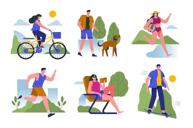 Sommer outdoor-aktivitäten