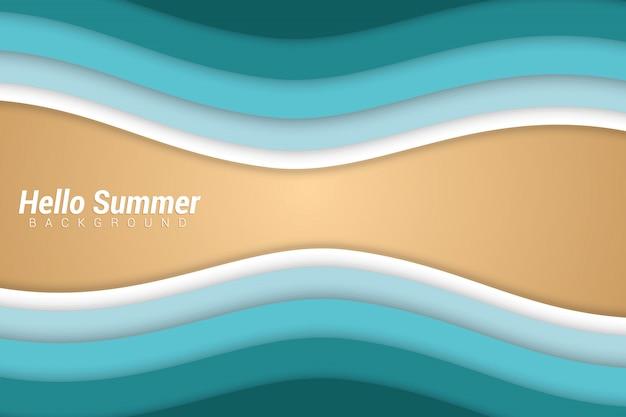 Sommer-papierschnitt