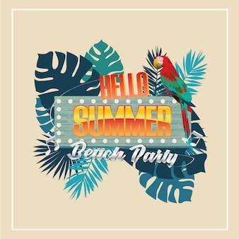 Sommer-party-vektor