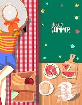 Sommer-picknick-design