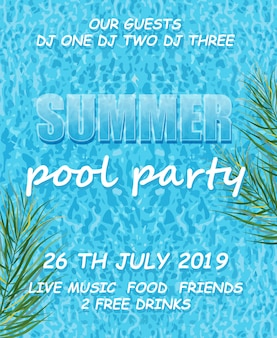 Sommer-pool-party-plakat