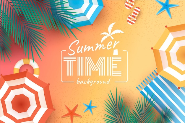 Sommer realistische tapete mit strand