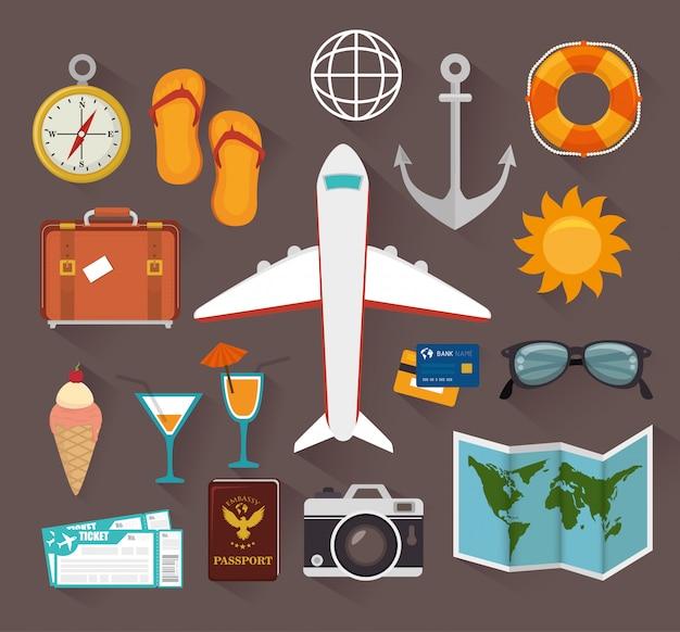 Sommer, reisen und urlaub