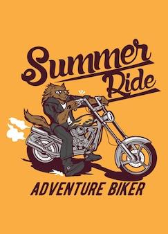 Sommer reiten wolf